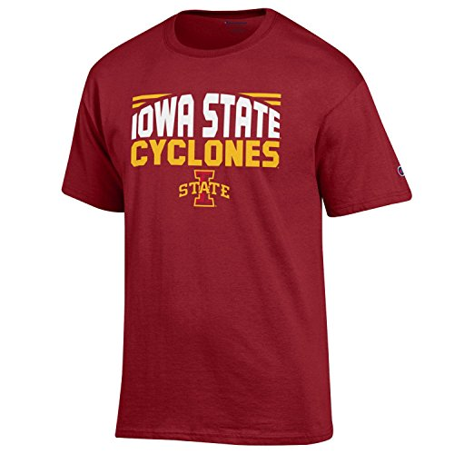 (NCAA Champion Men's Push Ahead Short sleeve T-Shirt Iowa State Cyclones Medium)