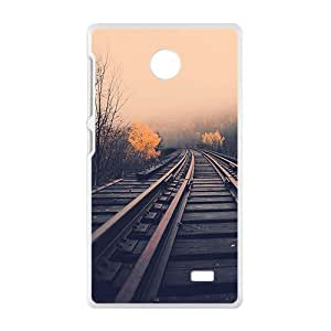 Sunset Train Track White Phone Case for Nokia Lumia X