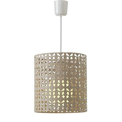 Dcasa - Lámpara de techo árabe beige de metal para ...