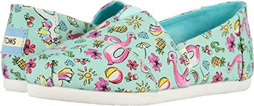 TOMS Kids Girl's Alpargata (Little Kid/Big Kid) Mint Poolside Floaties Print 13 M US Little - Girls Tom Clothing