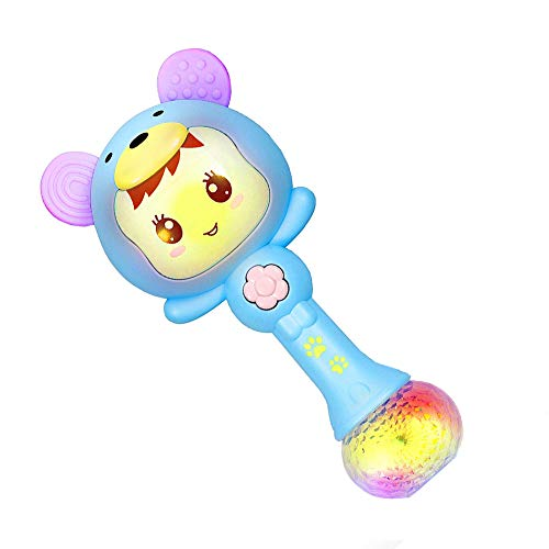 Cartoon Baby Rattle - Cute Shaking Cartoon Rabbit Shaped Rattle Toys Baby Hand Bells Educational Baby Electronic Music Rattle Toy Rattle Drum Sand Hammer Molar Teething Toys Under 1 Year Old Infant Kids 1pc Pink Blue