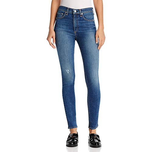 (Rag & Bone Womens Denim Medium Wash Skinny Jeans Blue 24)