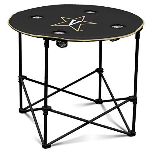 Vanderbilt Case Bag - Vanderbilt Commodores Collapsible Round Table with 4 Cup Holders and Carry Bag