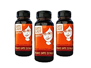 Date Lady Date Syrup Organic Pure Squeeze Bottle (3-pack squeeze)