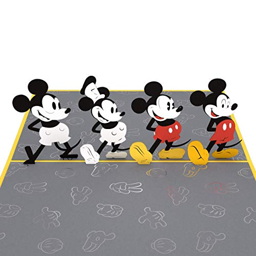 Lovepop Disney Mickey Through the Years Pop Up Card, Disney Card, Birthday Card, Mickey Mouse Card, Greeting Card, 3D Card, Birthday Card for Kids