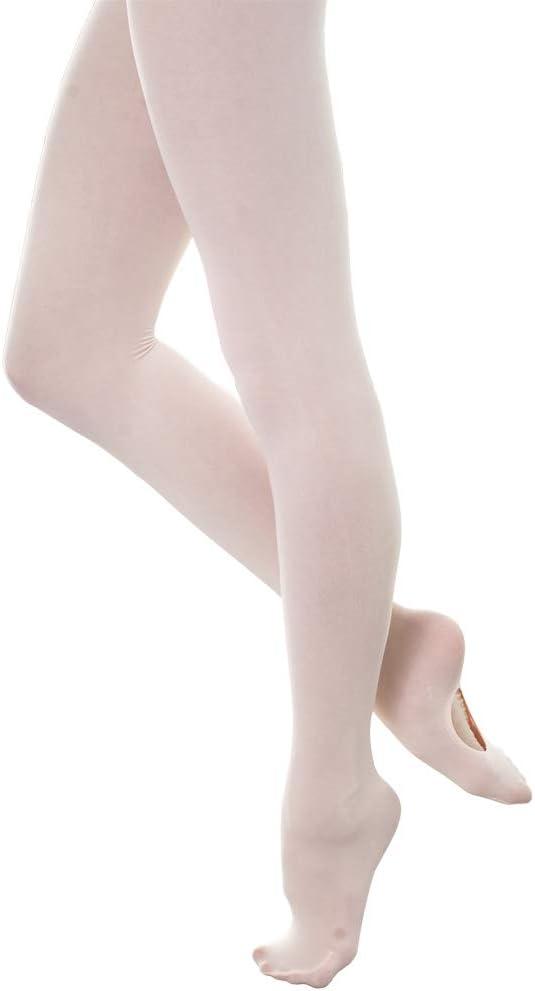 DANCEYOU Tanzstrumpfhosen Ballettstrumpfhose Wei/ß//Rosa//Hautfarbe//Tan mit//ohne Fersenloch Legging Str/ümpfe St/ützstrumpfhose f/ür M/ädchen Kinder und Damen 70 Den Rosa XL