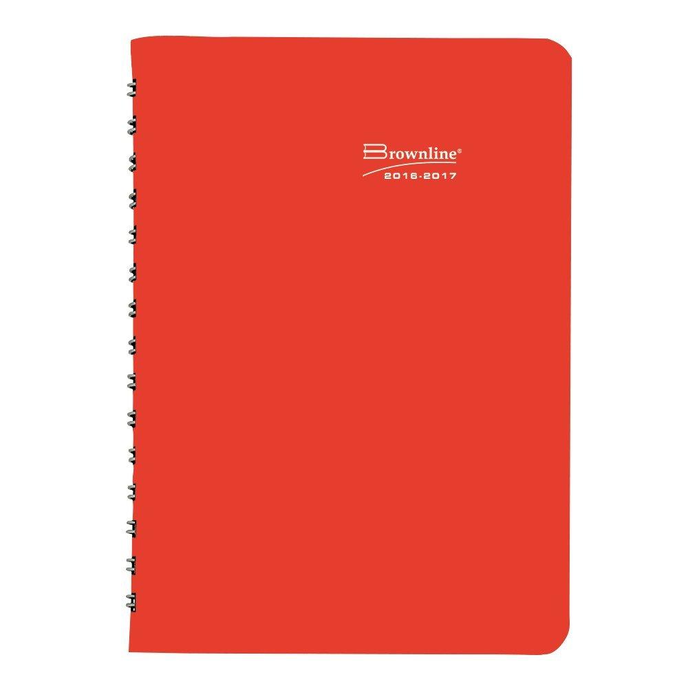 Planificador académico diario Brownline, varios puede colores, el color puede varios variar, 8 x 5