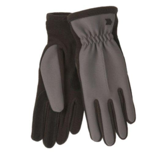 過激派同僚消化器Isotonerレディースグレーブラックライクラストレッチ手袋withフリース&スエードアクセント