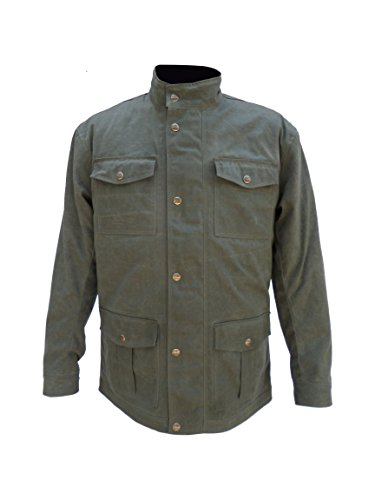 Waxed Military Jacket - Men's Wax Cotton Motorcycle Armoured Jacket (VINTAGE ARMY JACKET)