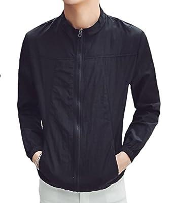 Sheng XiMen Full-Zip Wild Fit Stylish Thin Breathable Summer Overcoat Jackets