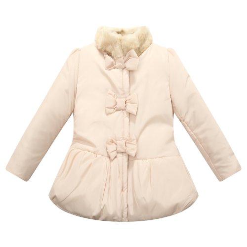 Richie House Little Big Girls' Padding Jacket Artificial Fur Collar Size 3-10 RH1181