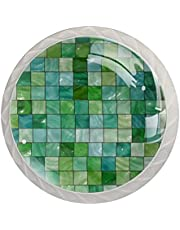 Drawer Handles Pull Round Crystal Glass Cabinet Knobs Kitchen Cabinet Handle,for Home Kitchen, Dresser, Wardrobe