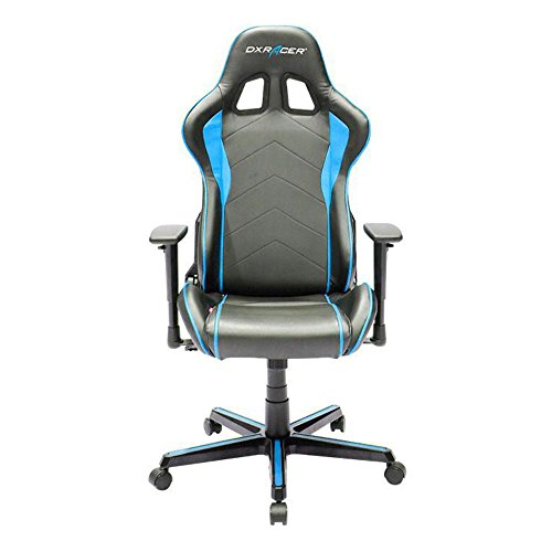 DXRacer OH/FH08/NB Black & Blue Formula Series Gaming Chair Ergonomic High Backrest Office Computer Chair Esports Chair Swivel Tilt and Recline with Headrest and Lumbar Cushion + Warranty Review
