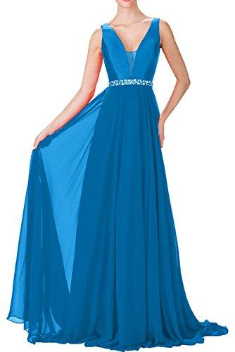 Blau Neu Chiffon Promkleider Sexy Abendkleider Rot Ballkleider Fest Ivydressing Bodenlang 4UqwxzTOT