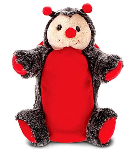 DOLLIBU 무당벌레 봉제 손을 꼭두각시 아이를 위한 부드러운 털 박제 동물의 손을 꼭두각시를위한 장난감 인형극 게임은 인형 극장 아이들을위한 귀여운 성인 인형 교육 장난감을 가르칩니다