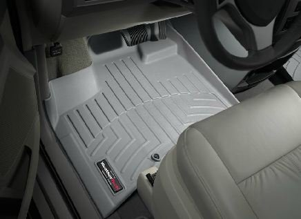 2008-2012 Chrysler Town & Country Grey WeatherTech Floor Liner (Full Set) [Bucket Seating Stow'n Go][No passenger-side floor retention device]