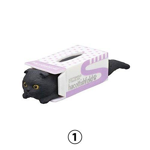 (Hacottishfold 2 Scottish Fold Cats in Tissue Boxes Mini Figure Collection, Design 1)