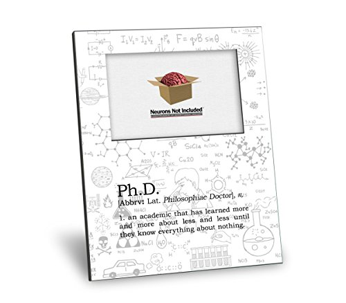 Ph.D. Definition Picture Frame - Personalization Available - 8x10 Frame - 4x6 Picture - Gloss White Finish
