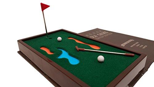 'Barwench Games' Executive Mini Desktop Golf Game, Pocket Golf Putting Game