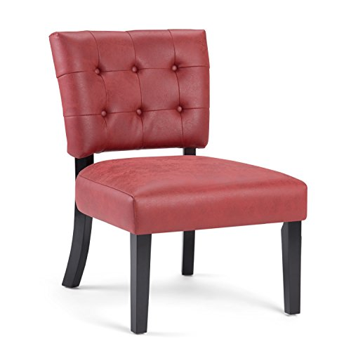 Simpli Home Greer Accent Chair, Ruby Red