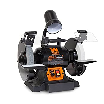 Image of Home Improvements WEN 4280 5-Amp 8-Inch Variable Speed Bench Grinder with Work Light