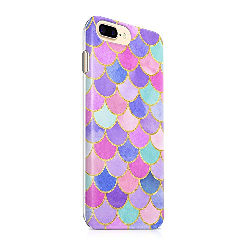 """iPhone 7 Plus Case iPhone 8 Plus Case(5.5"""") uCOLOR Mermaid Scales Pink Ultra Slim Hard Shell Soft TPU Dual Layer Protective Case for iPhone 7 Plus/8 Plus"""