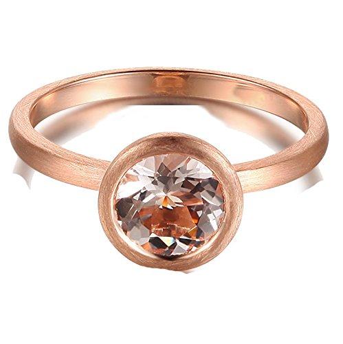 1 Carat Bezel set Morganite Solitaire Gemstone Engagement...