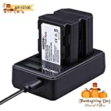 NP-FZ100 Battery Charger Set for Camera Grepro 2 Pack Rechargeable Lithium-Ion Battery Charger Kit 100% Compatible with Original Sony Sony Alpha 9, A9, Alpha 9R, A9R, Alpha 9S, A7RIII, A7R3, a7 III