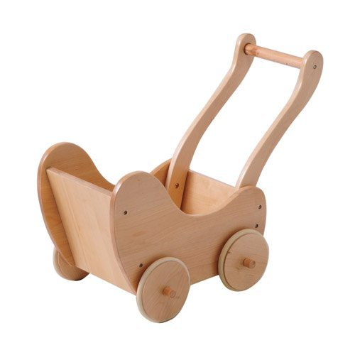 Wooden Doll Buggy with Rubber Edged Wooden (Wooden Buggy)
