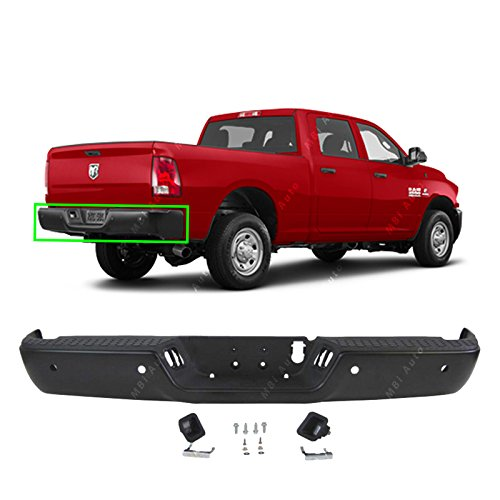 - MBI AUTO - Primered, Steel Rear Bumper Complete Assembly for 2013-2018 RAM 2500 & 3500 Pickup W/Park 13-18, CH1103127