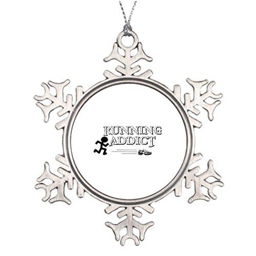 Addict Ornament - Personalized Christmas Snowflake Ornaments Running Addict Xmas Decorations Jogging