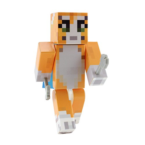 [Orange Cat Action Figure Toy, 4 Inch Custom Series Figurines, EnderToys [Not an official Minecraft] (Switch Witch Costume)