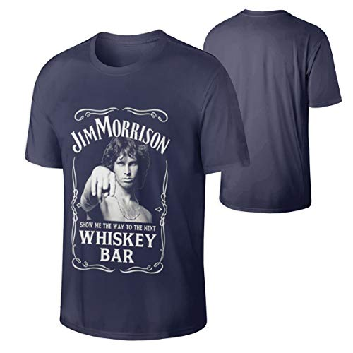 - Men Jim Morrison Show Me The Way to Next Whiskey Bar Funny Tee Navy XL