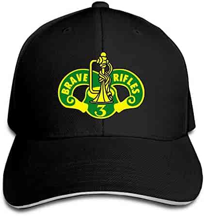 cc7ce7b2fb6b5 Madoling 3rd Cavalry Regiment Brave Rifles Sandwich Hat Baseball Cap Dad Hat