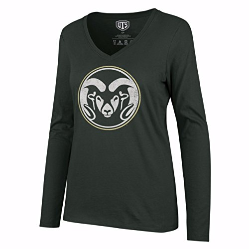 (NCAA Colorado State Rams Women's Ots Rival Long sleeve Distressed Tee, X-Large, Dark)