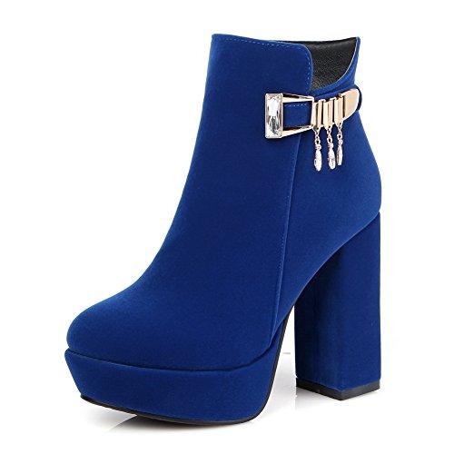 1TO9 1TO9Mns01727 - Sandalias con Cuña Mujer Azul