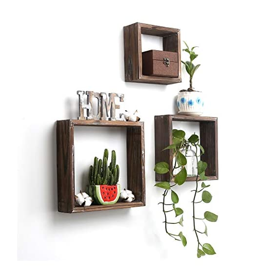 CALIFORNIA CADE ELECTRONIC DOCMON Floating Shelves-Wall Shelf- Hanging Shelf-Floating Shelf for Room and Office(3 Pack-Brown, 8 x 12 x 10) - ORIGINAL ART:100% solid Wood.Unique hand crafted.This set Rustic wooden floating shelves will add charm and usable storage to any space. ORGANIZE AND DECOR:Not just a floating shlef can be used as displays for small decor objects, or for storing beauty products, spices, but aslo add a touch of farmhouse decor on a blank wall. JUST FOR BEST SHELF:We put our heart on selecting wood,joint, plane, route,color. For us there is nothing worse then a flimsy low quality product, so we pay extra attention to the construction of all our products. - wall-shelves, living-room-furniture, living-room - 41i6jTgc52L. SS570  -
