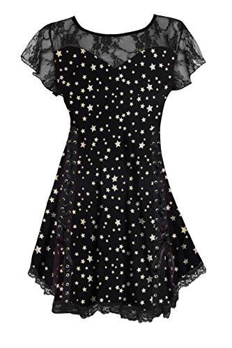 Dare to Wear Victorian Gothic Boho Women's Plus Size Roxann Corset Top Rockstar 1x