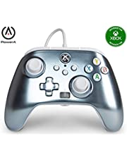 PowerA Enhanced Wired Controller for Xbox Series X|S - Metallic Ice, Gamepad, Wired Video Game Controller, Gaming Controller, Xbox Series X|S, Xbox One - Xbox Series X