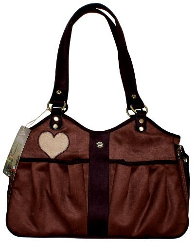 Pet Flys Bon Ami Baby Doe Tote-Coffe Suede with Chocolate Brown trim & Baby Doe applique by Pet Flys