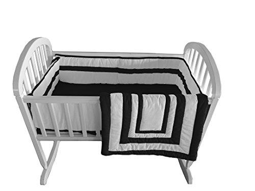 Baby Doll Bedding Modern Hotel Style Cradle Bedding, Black by BabyDoll Bedding