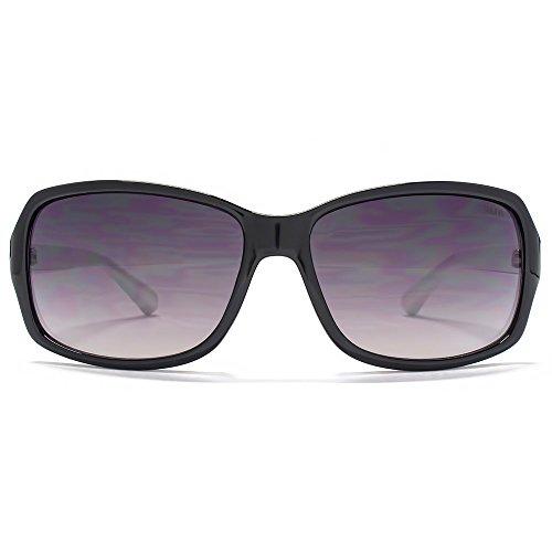 SUUNA Holly Square Wrap lunettes de soleil en noir SUU118 Gradient Grey