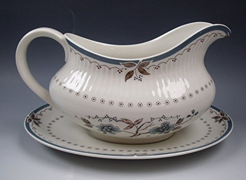 Royal Doulton China OLD COLONY Gravy Boat & Unattached Underplate EXCELLENT