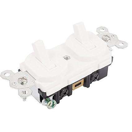 eDealMax 125V Shell plástico de montaje en pared Doble cerradura de la torcedura del interruptor eléctrico