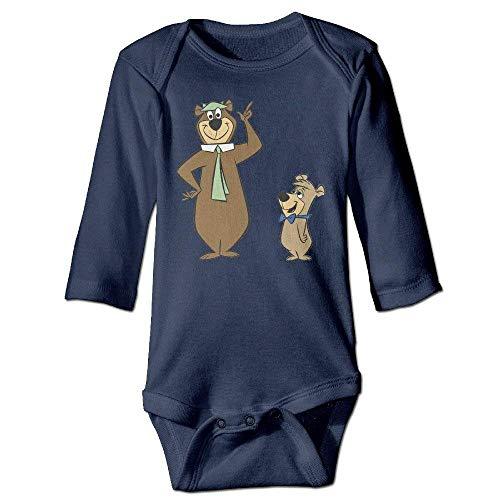 Wishesport FUNINDIY Yogi Bear Logo Long Sleeve Baby Bodysuit Navy]()