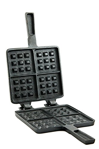 Useful UH-CI194 Old Fashioned Cast Iron Stove Top Waffle Iron