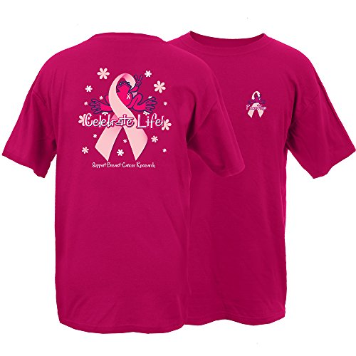 Peace Frogs Celebrate Life Frog Adult Short Sleeve T-Shirt (Pink, Large)