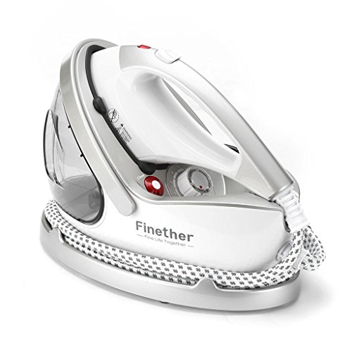 Finether 2 in 1 Garment Steamer Iron for Clothes Portable Handheld Electric Steam Iron Clothes Steamer Fabric Steamer 15 Sec Heat-Up 9 Steam Levels with Anti-Scald Gloves for Home Commercial Use