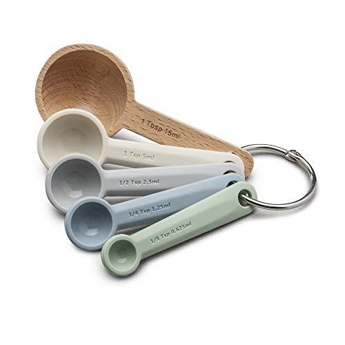 Zeal Measuring Spoon Set, Silicone, Neutral Multi, 11 x 4.7 x 5.5 cm