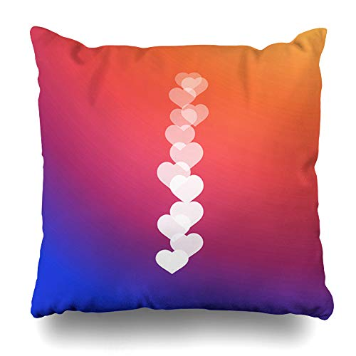 (Ahawoso Throw Pillow Cover Love Black Live Video Streaming Heart Flat Graphic Shape User Design Home Decor Pillowcase Square Size 20